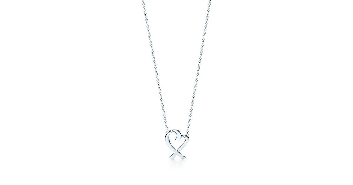 Paloma Pendentif Coeur Picasso Amour En Argent Sterling Avec Un Diamant Tiffany & Co. OqGhg1LP8J