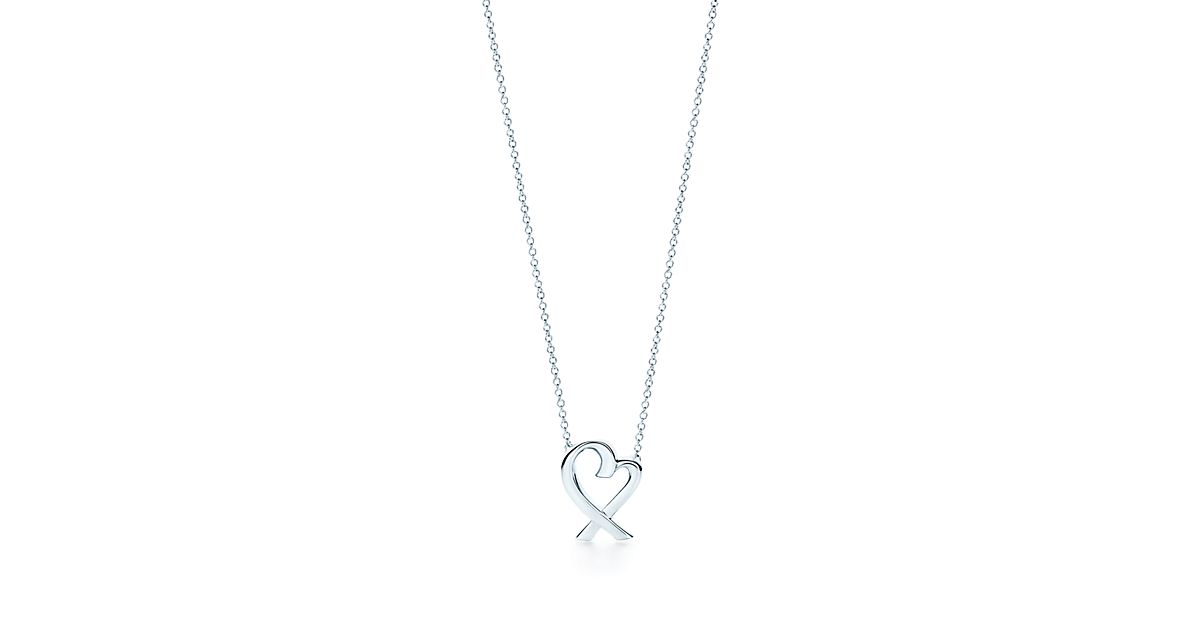 Paloma picasso loving heart love pendant in sterling silver tiffany aloadofball Gallery