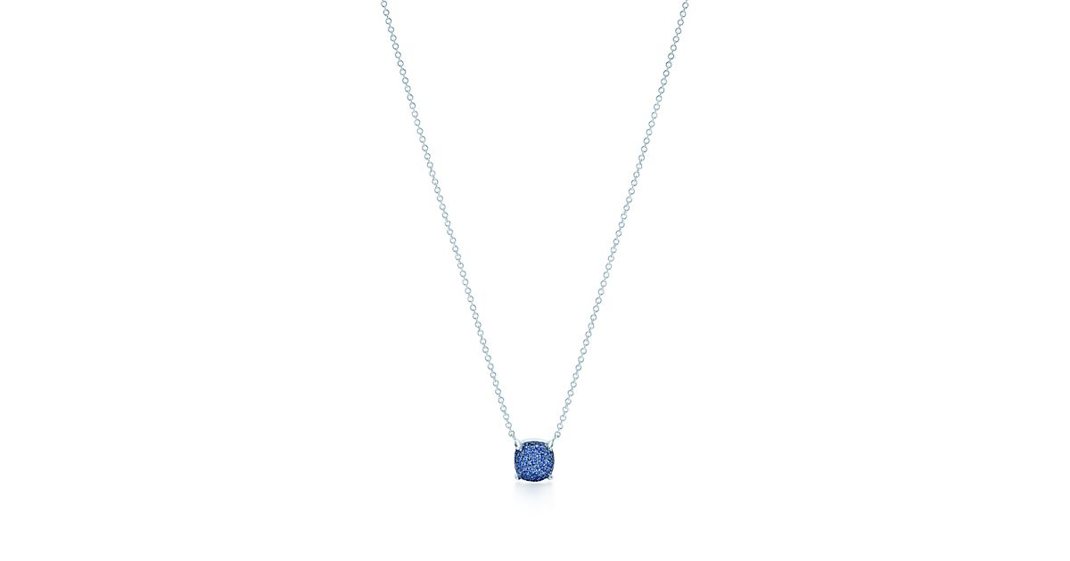 Palomas Sugar Stacks pendant in 18k white gold with sapphires Tiffany & Co. o9cHKj8
