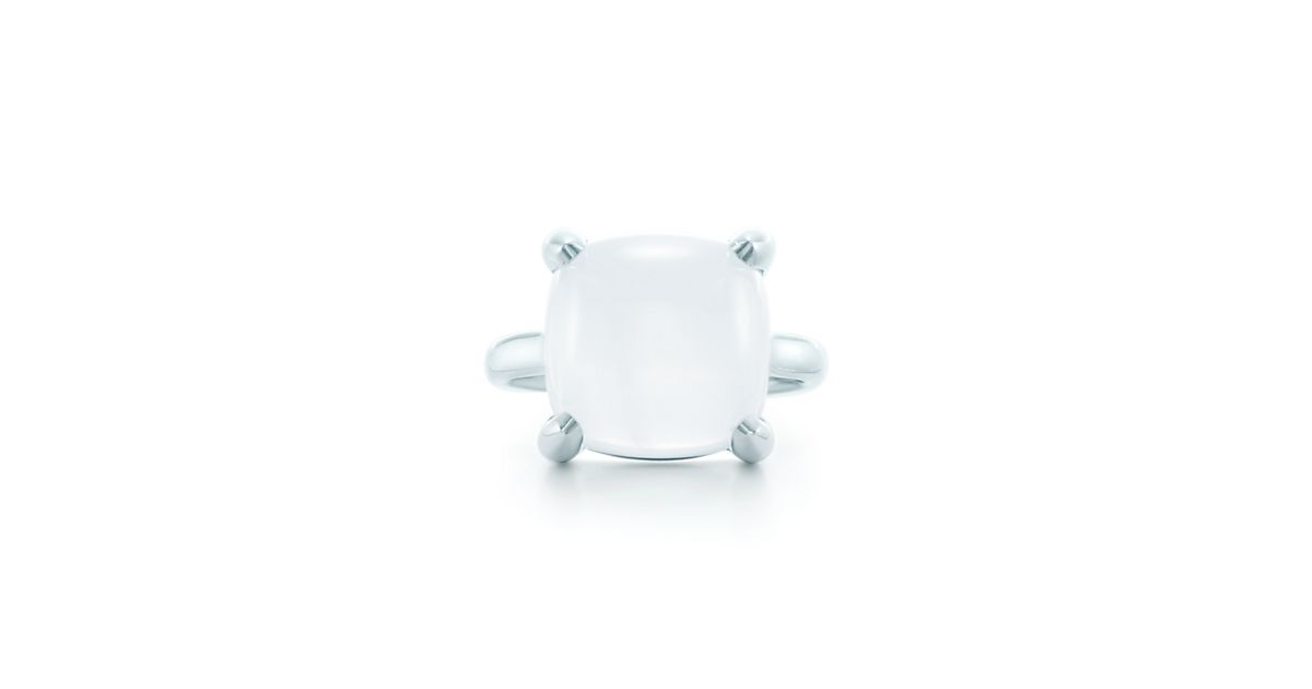 Palomas Sugar Stacks ring in sterling silver with a milky quartz - Size 7 Tiffany & Co. 4HxaavH1