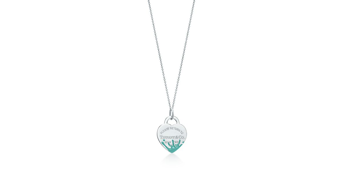 Tiffany Heart Bracelet >> Return to Tiffany® Color Splash heart tag charm in ...