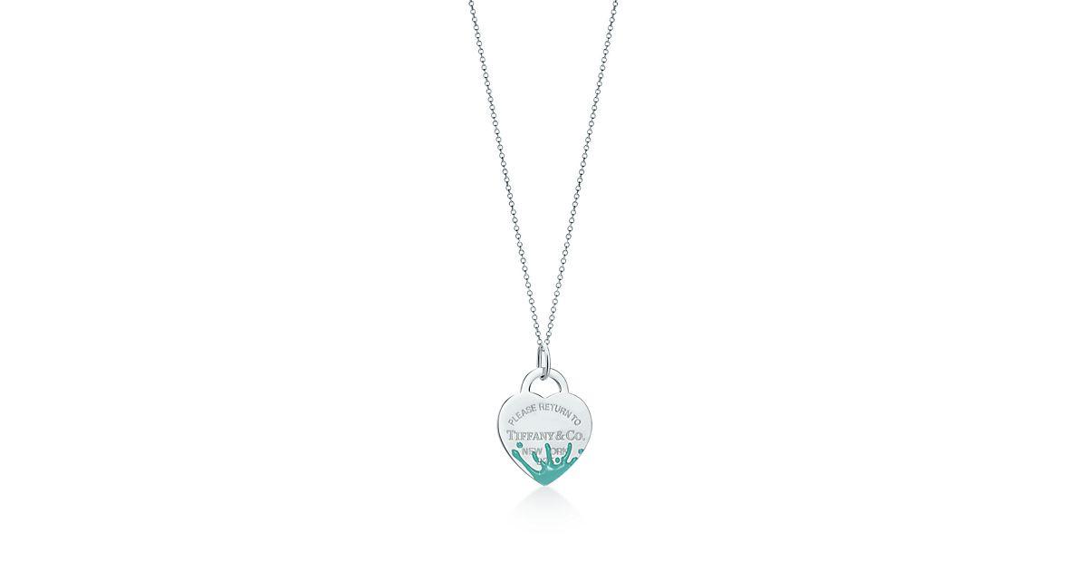Tiffany Heart Bracelet >> Return to Tiffany® Color Splash heart tag charm in ...
