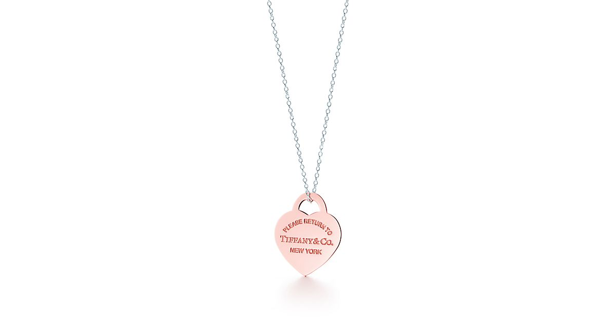 Return to Tiffany heart tag pendant in Rubedo metal and sterling silver, small Tiffany & Co.