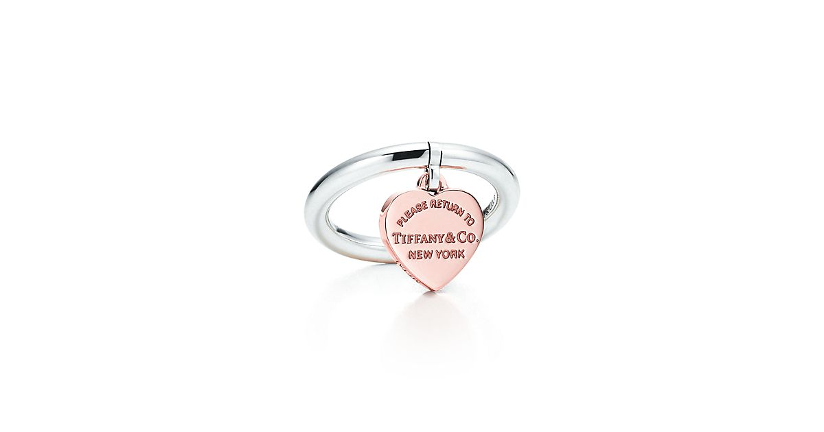 Return to Tiffany heart tag ring in 18k rose gold - Size 4 1/2 Tiffany & Co. JV3Rnp71