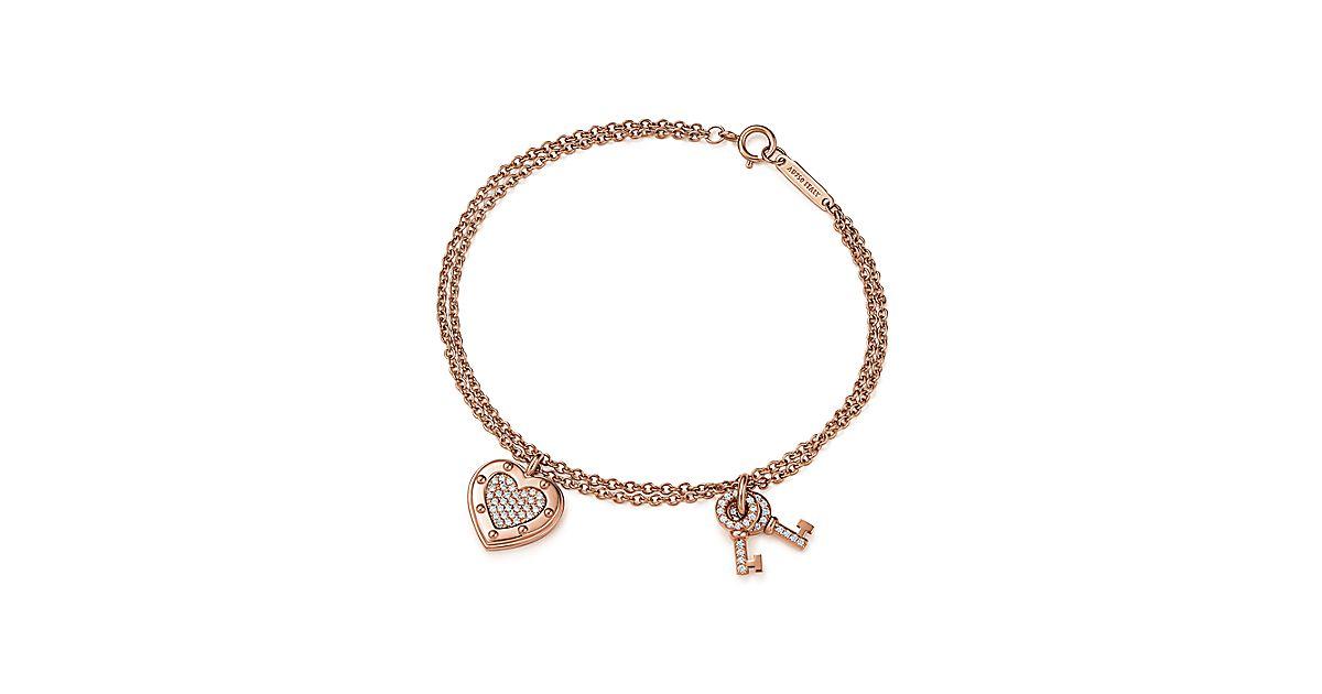 Return To Tiffany Love Bracelet In 18k Rose Gold With Diamonds Medium Co