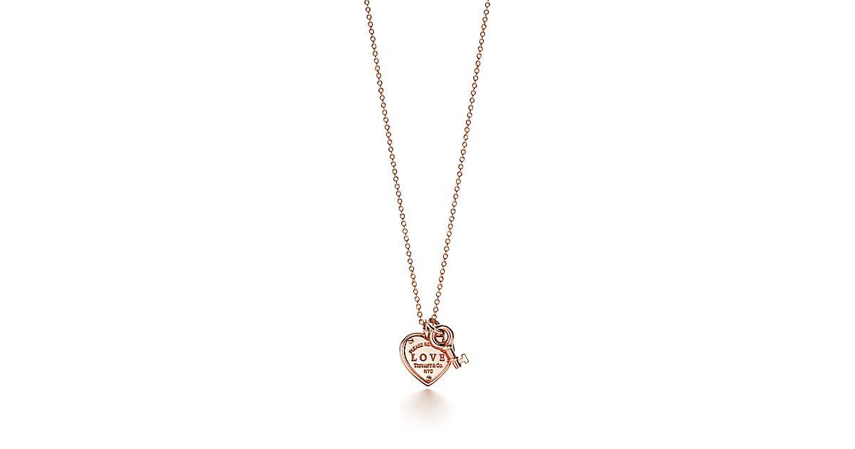 Return To Tiffany Love Heart Key Pendant In 18k Rose Gold Co