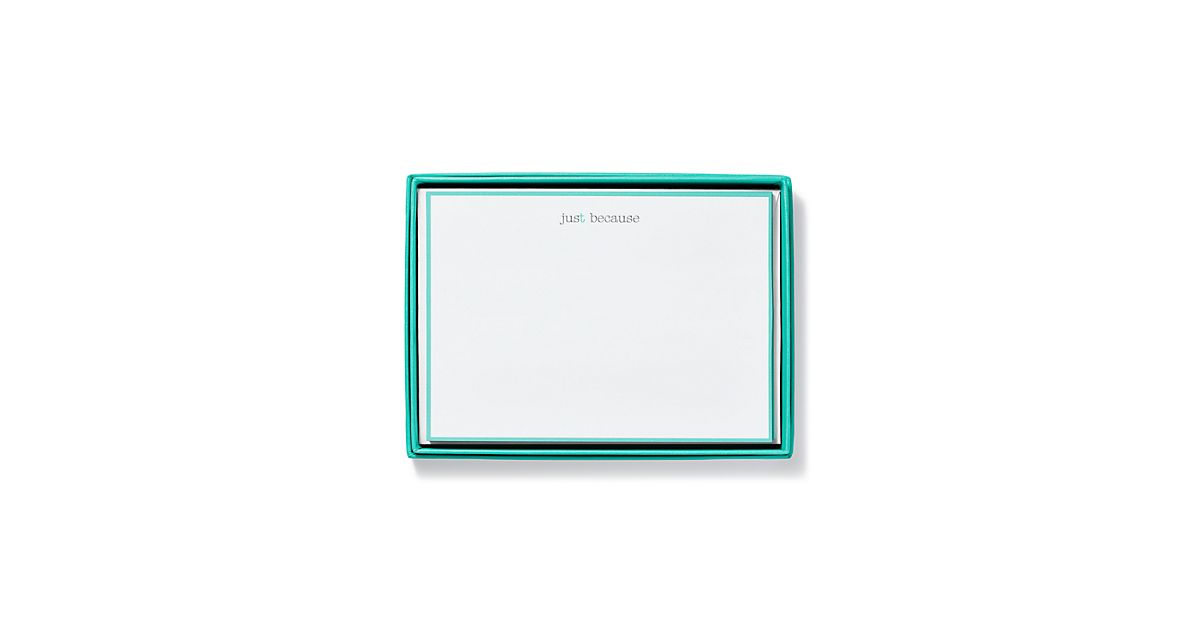 t note cards in cotton paper set of 10 tiffany co - Note Cards