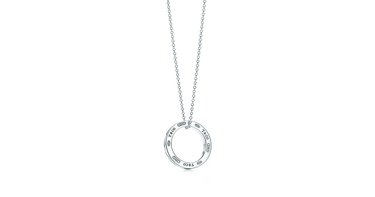 necklace fluid silver circle pendant sterling zen enso