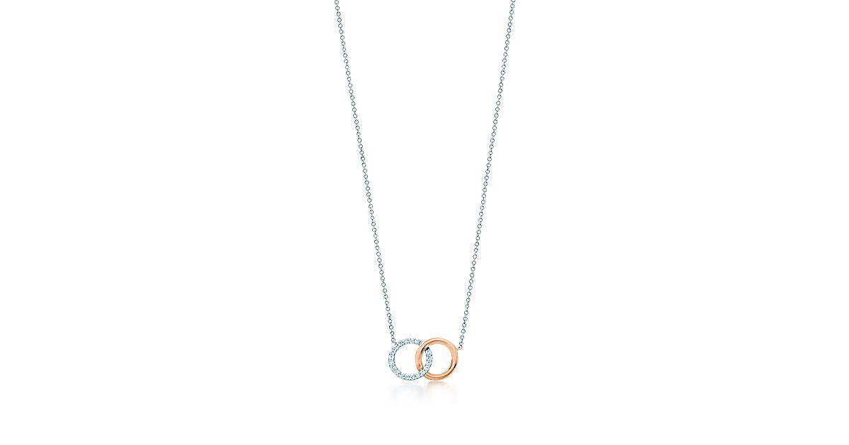 Tiffany 1837 interlocking circles pendant in white and rose gold tiffany 1837 interlocking circles pendant in white and rose gold with diamonds tiffany co aloadofball Gallery