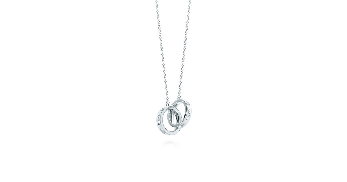 Tiffany 1837 interlocking circles pendant in sterling silver, small - Size 16 in Tiffany & Co.