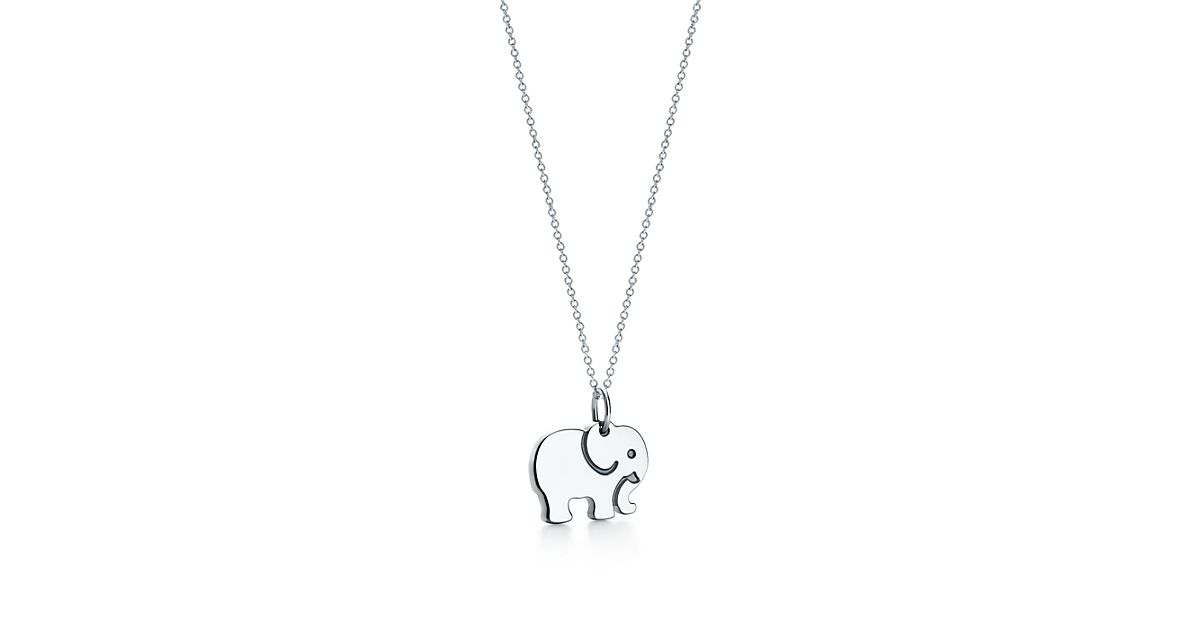 Tiffany Charms Elephant Never Forgets Charm In Sterling