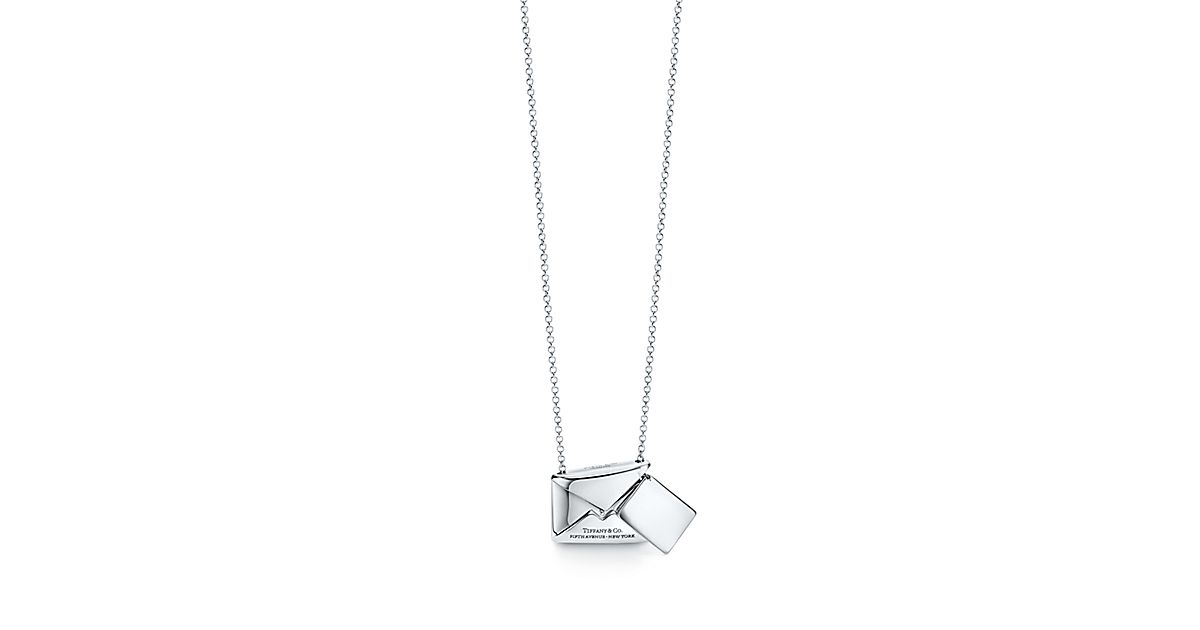 Tiffany Charms Sweet Nothings Envelope Pendant In Sterling