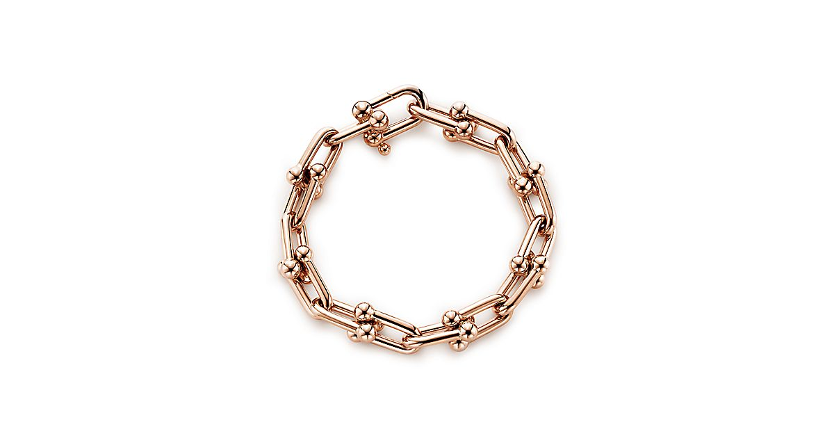 Tiffany City Hardwear Link Bracelet In 18k Rose Gold