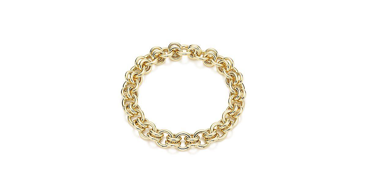 Schlumberger Link Bracelet In 18k Gold Tiffany Co