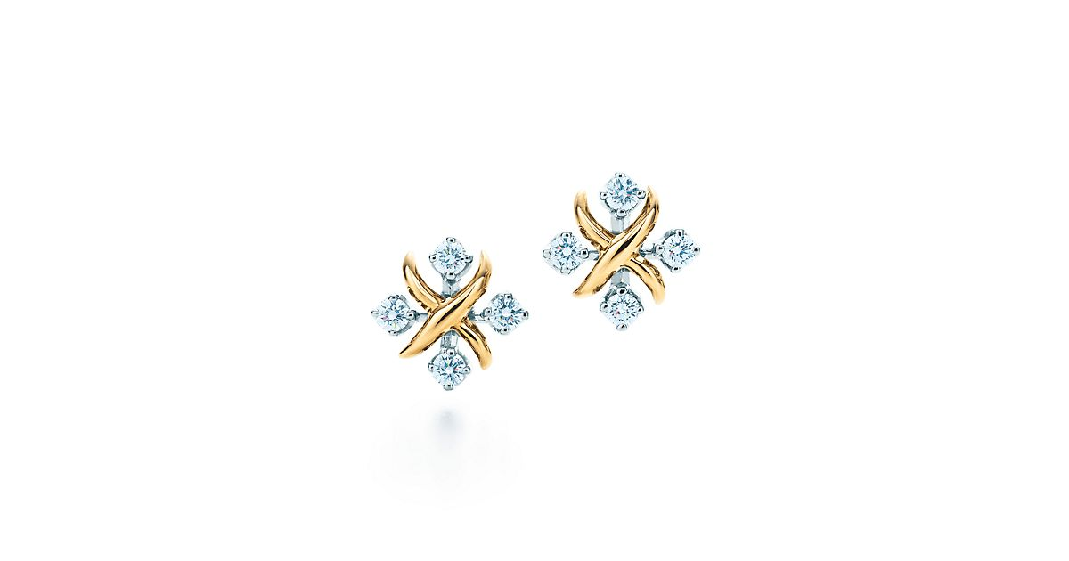 900862ff4 Schlumberger earrings in gold with diamonds tiffany jpg 1200x630 Schlumberger  lynn