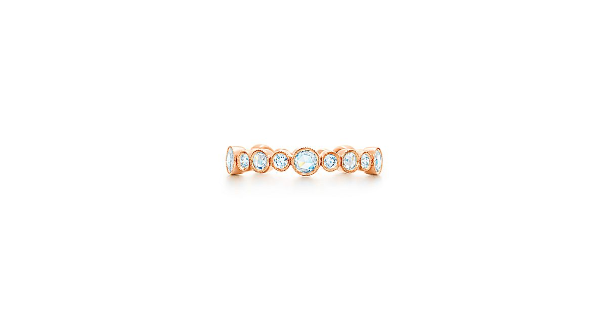 Tiffany Cobblestone Diamond Band Ring In 18k Rose Gold