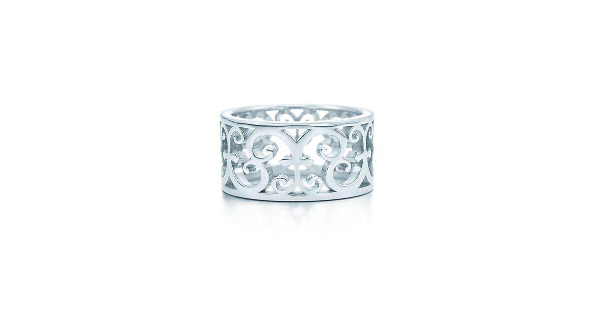 Tiffany Enchant wide ring in sterling silver - Size 4 1/2 Tiffany & Co. RnVoWf0m