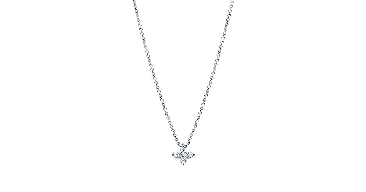 Tiffany fleur de lis pendant in platinum with diamonds mini tiffany fleur de lis pendant in platinum with diamonds mini tiffany co aloadofball Image collections