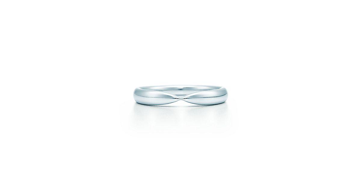 Обручальное кольцо Tiffany Harmony™, платина, ширина 3 мм.   Tiffany   Co. b54015e77af