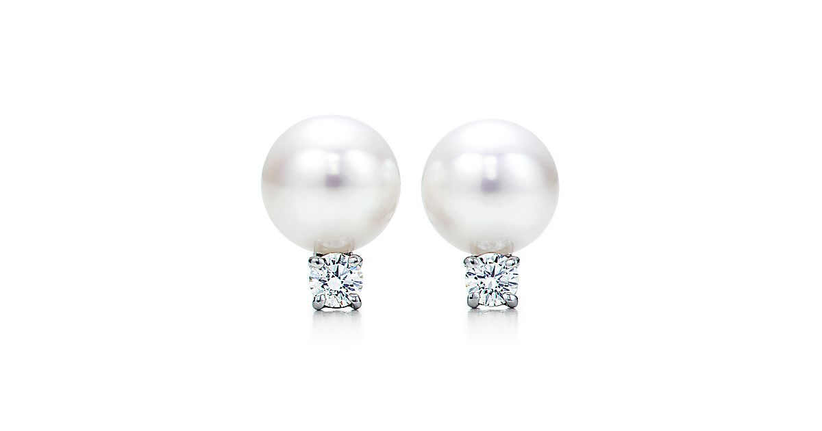 clip grande merrichase earrings cluster diamond earring pearls products gold of pearl crystal