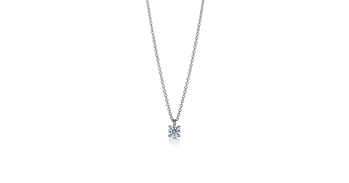 Tiffany solitaire diamond pendant in platinum tiffany co aloadofball Image collections