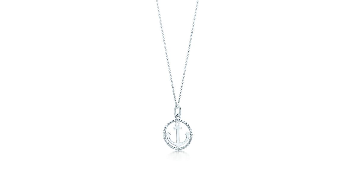 Sterling silver anchor charm tiffany co aloadofball Image collections