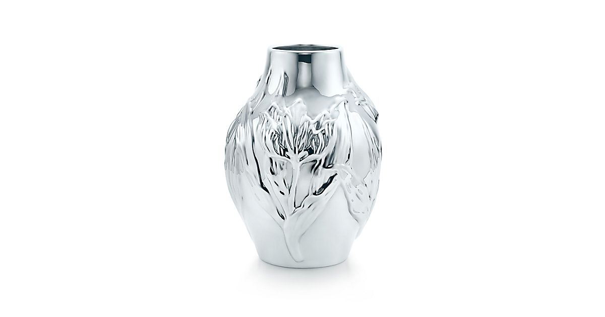 Tulip Vase In Sterling Silver Tiffany Co