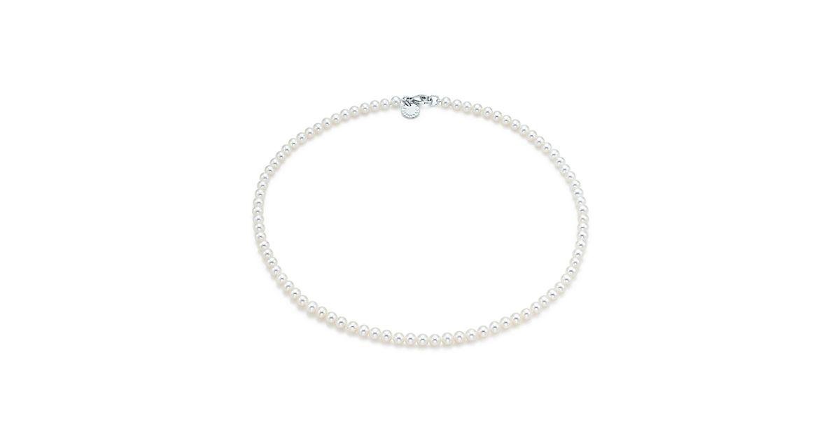 Collier Collection Ziegfeld De Perles De Culture D'eau Douce Avec Un Fermoir En Argent - Taille 4-5 Mm Tiffany & Co. lNeh7Q
