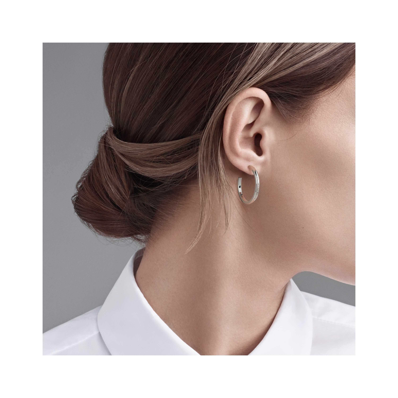 Tiffany 1837 Hoop Earrings Model Shot 1