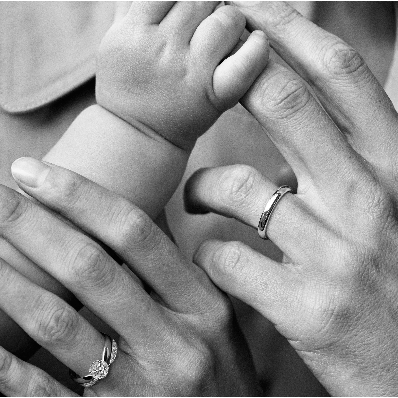 Tiffany Clic Wedding Band Ring Model Shot 4