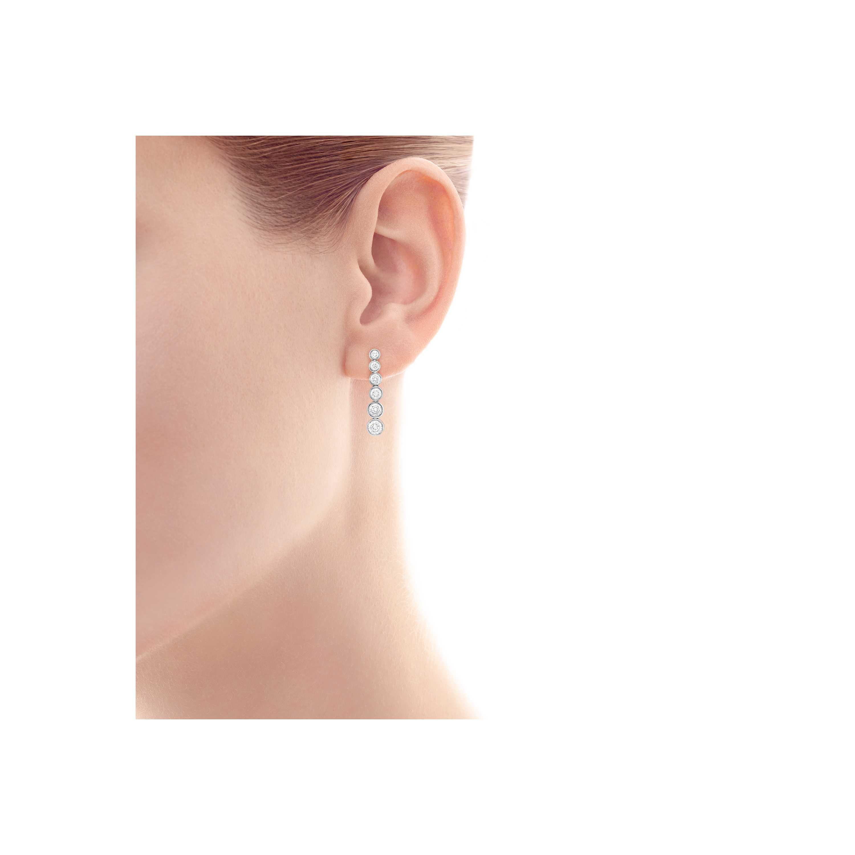 Tiffany Jazz Graduated Drop Earrings Model Shot 1