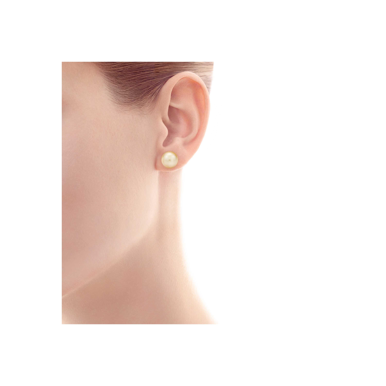 Tiffany South Sea Pearl Earrings Model Shot 1