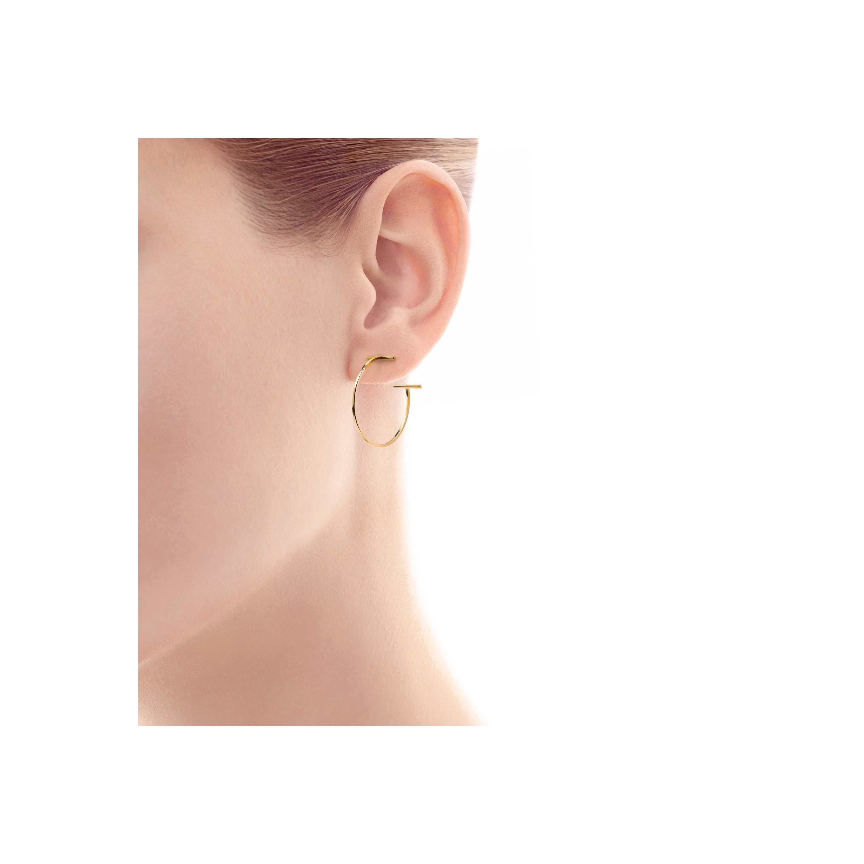 Tiffany T Wire Hoop Earrings Model Shot 1