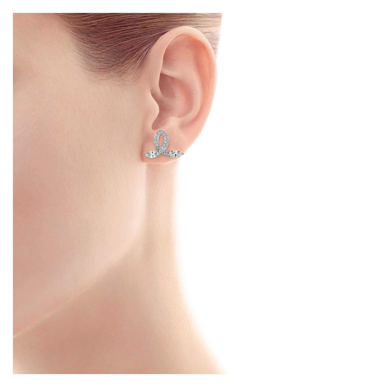 Tiffany Victoria Bow Earrings Model Shot 1