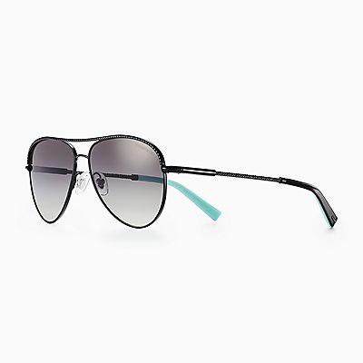 de990f0b719 Diamond Point aviator sunglasses in black metal. New. likelike solidDiamond  Point Aviator Sunglasses€ 275. Return to Tiffany® Color Splash oval ...