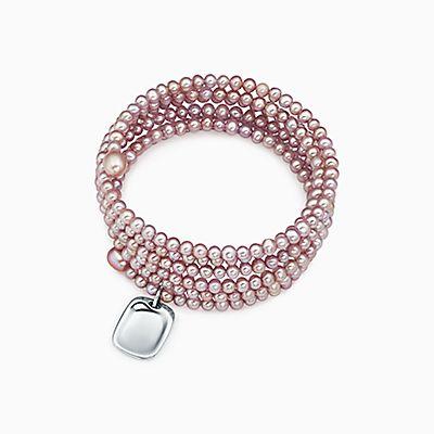 Elsa Peretti freshwater pearl bracelet with sterling silver star charm, medium Tiffany & Co.