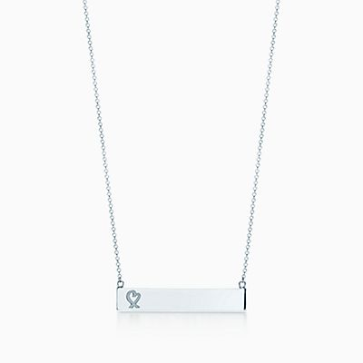 Paloma picasso loving heart necklaces pendants tiffany co paloma picasso loving heart bar pendant in sterling silver aloadofball Gallery