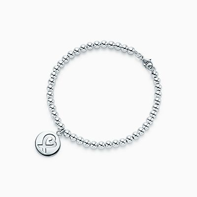 Palomas Graffiti love & kisses bracelet in sterling silver, medium Tiffany & Co.