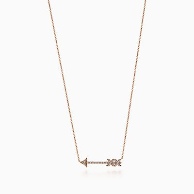 Palomas Graffiti arrow pendant in 18k rose gold, small Tiffany & Co.