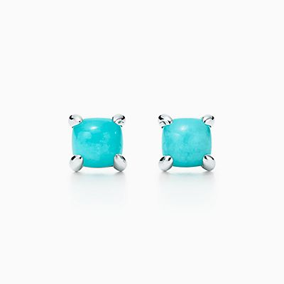 Palomas Sugar Stacks earrings in sterling silver with milky quartz Tiffany & Co. SDcvK6