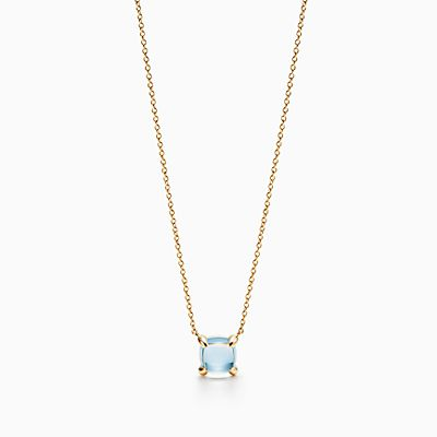 Paloma Picasso blue chalcedony dot charm in 18k gold Tiffany & Co. IsZdU9