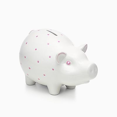 Personalized baby gifts tiffany co piggy bank in earthenware pink likelikesolidpiggy bank125 tiffany baby gifts negle Gallery