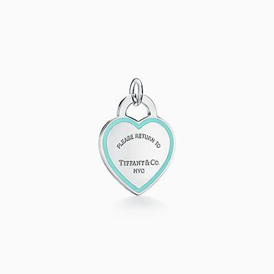Berloque de coração Return to Tiffany™ em prata de lei com acabamento  esmaltado. 2a8c081333