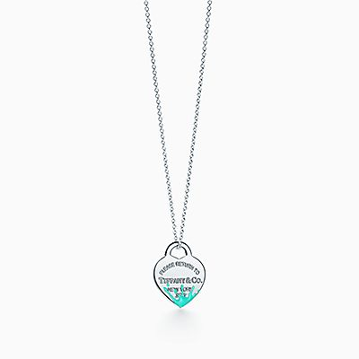 Berloque de coração Color Splash Return to Tiffany™ em prata de lei, médio. abdd5a14ec