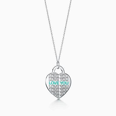 """Berloque de coração """"Love You"""" Return to Tiffany™ em prata de lei, 830e4e1898"""