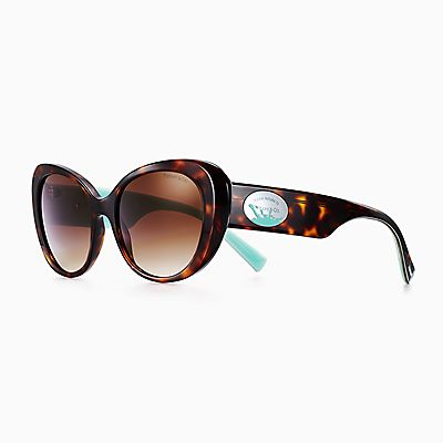 2539e6c787 Return to Tiffany® Color Splash oval sunglasses in acetate.