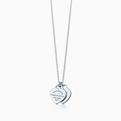 Necklaces for women tiffany co return to tiffany mini double heart tag pendant in sterling silver aloadofball Gallery