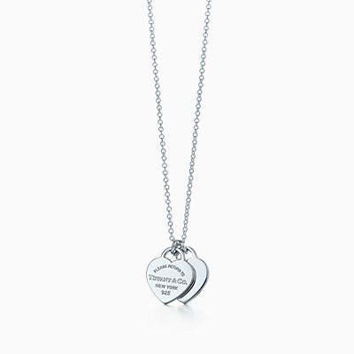 Pendente de coração duplo Return to Tiffany™ mini em prata de lei. 5a9a824c88