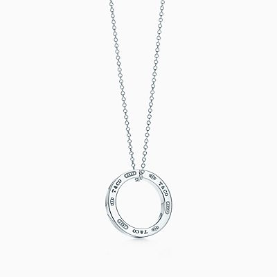 de coração duplo miniR  620. Pendente Circle Tiffany 1837™ em prata de lei,  médio. e7bd9eff2e