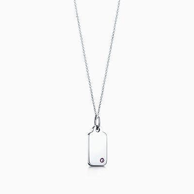 Tiffany Diamond Tag Necklace
